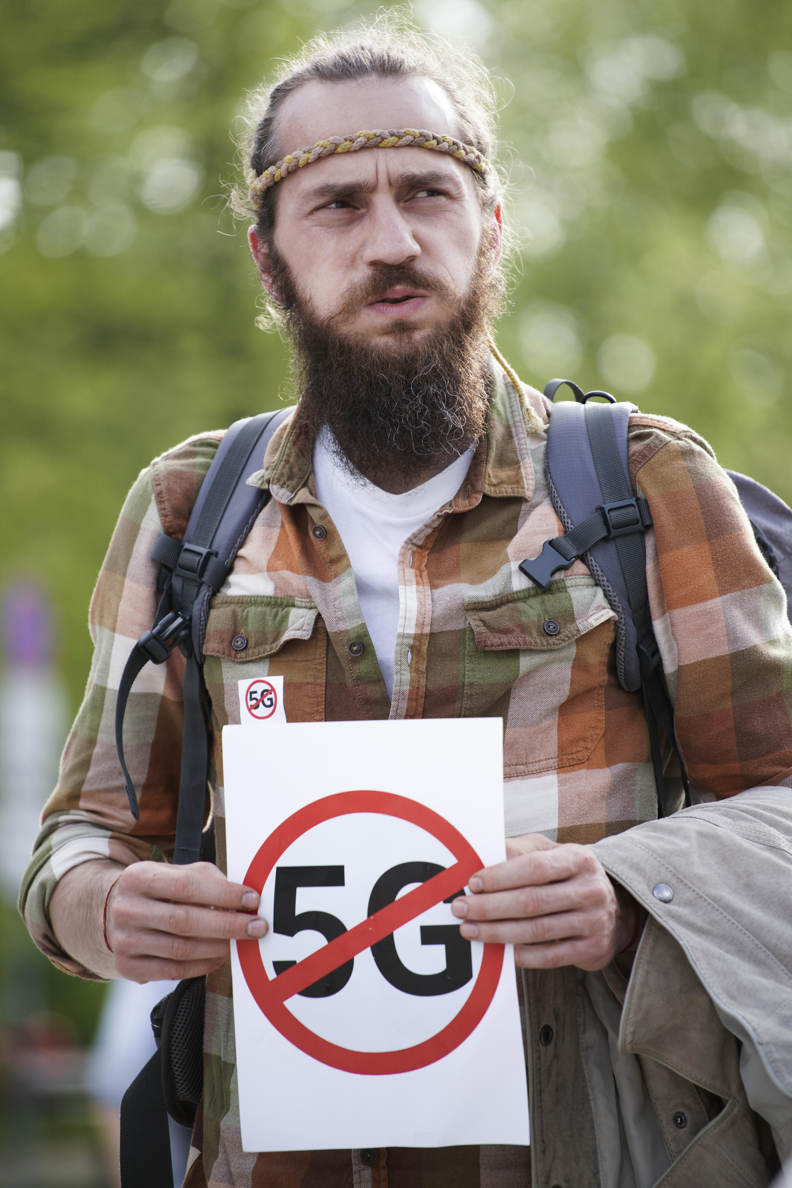 Rally Against 5G Networks In Poland
