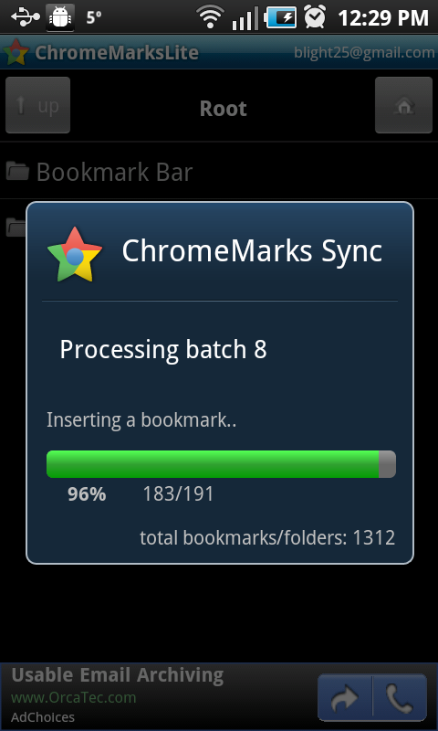 Step 4: Sync bookmarks.