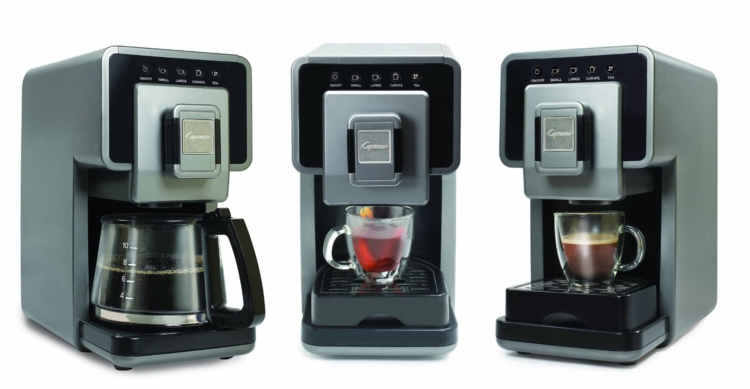 The Capresso a la Carte Cup-to-Carafe Coffee & Tea Maker gives users a choice.