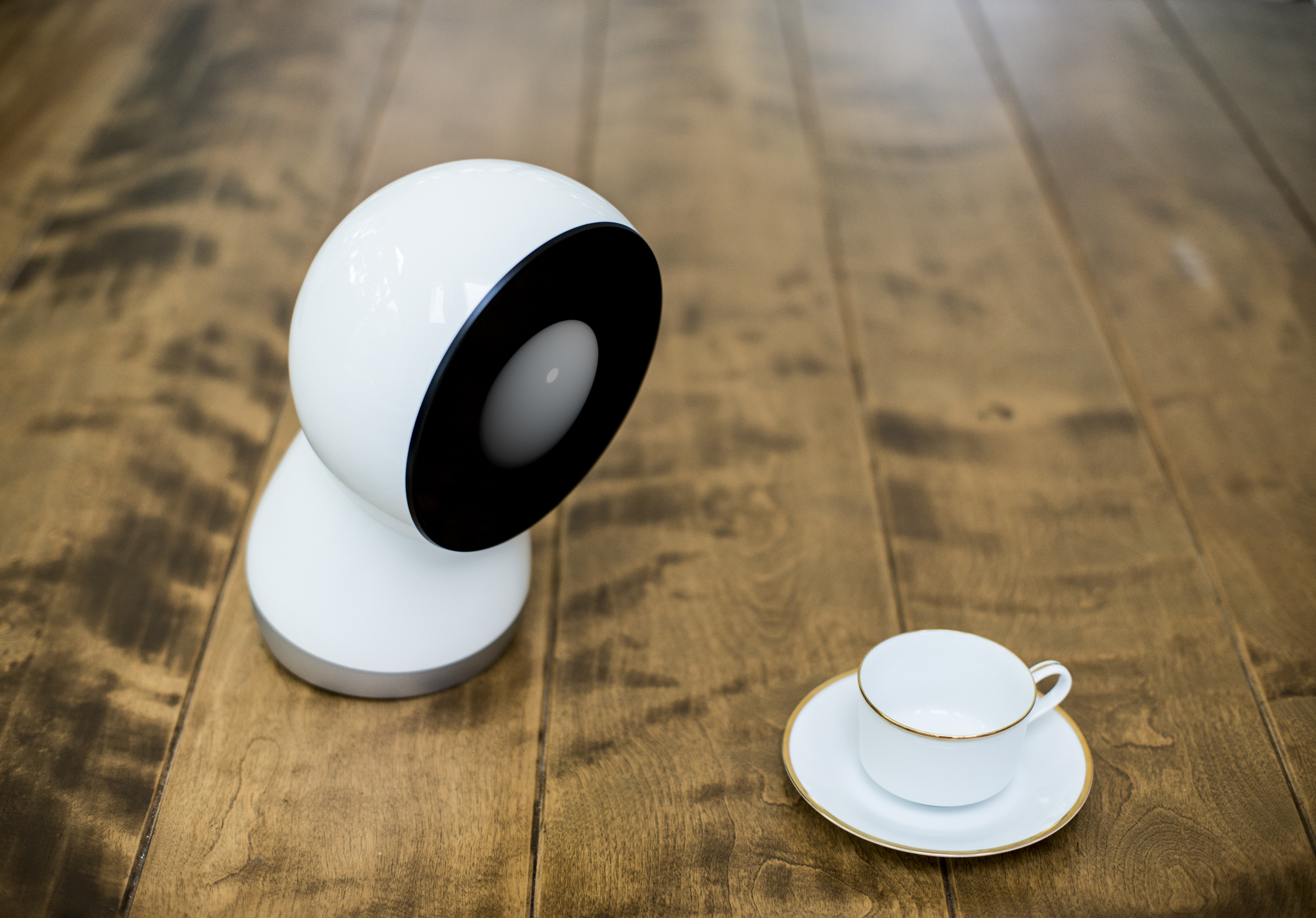 This is Jibo. Think Wall-E from the Pixar movie but as a kind of automated butler on steroids.