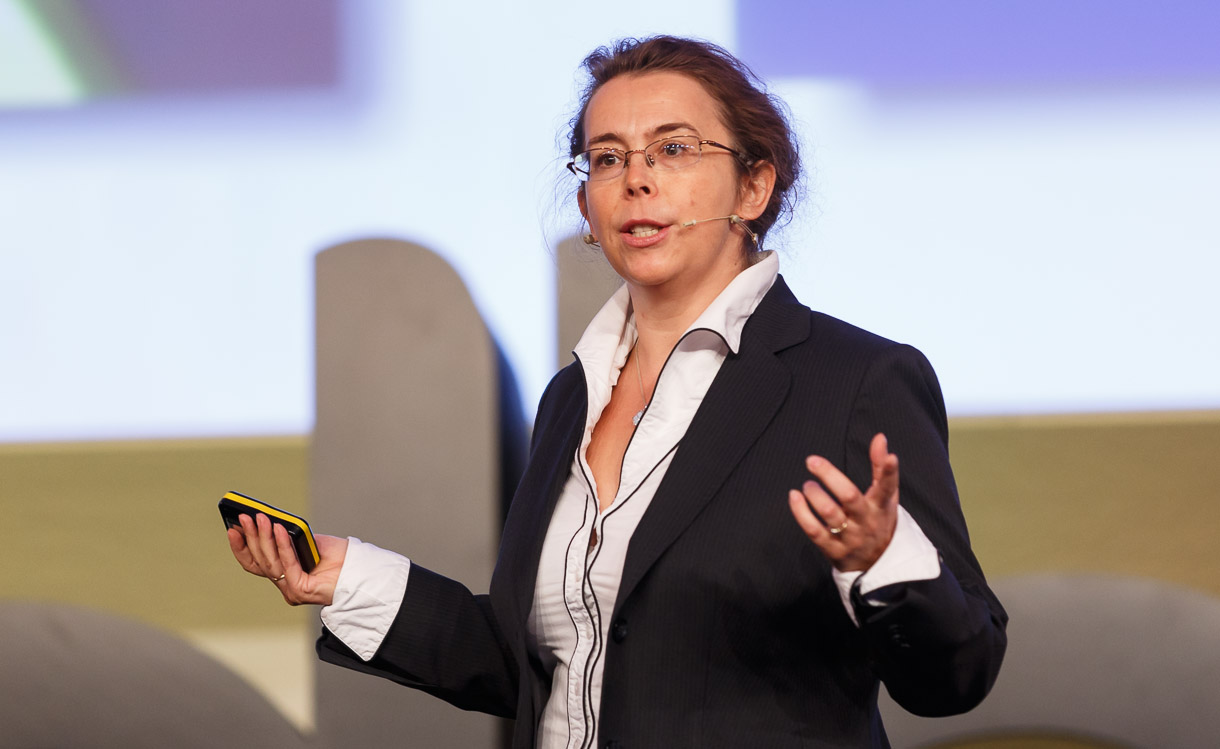 Anna Krzyzanowska, leader of the European Commission's work to foster the next generation of high-speed Net access, speaking at Broadband World Forum.