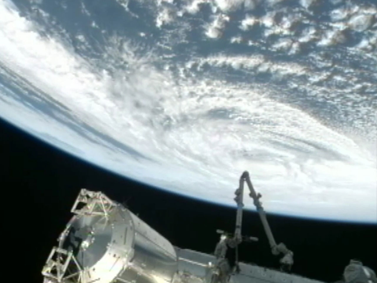 Hurricane Sandy as seen from the International Space Station
