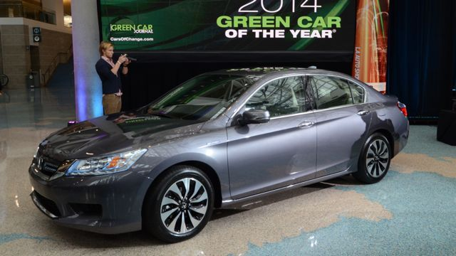 The 2014 Honda Accord is the 2014 Green Car of the Year.