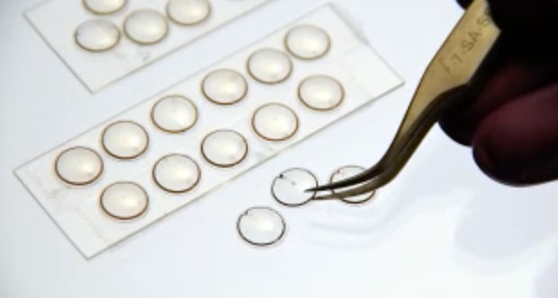 Microsoft had supported Babak Parviz's research into chip-enabled contact lenses that could detect diabetes-related high blood sugar levels.