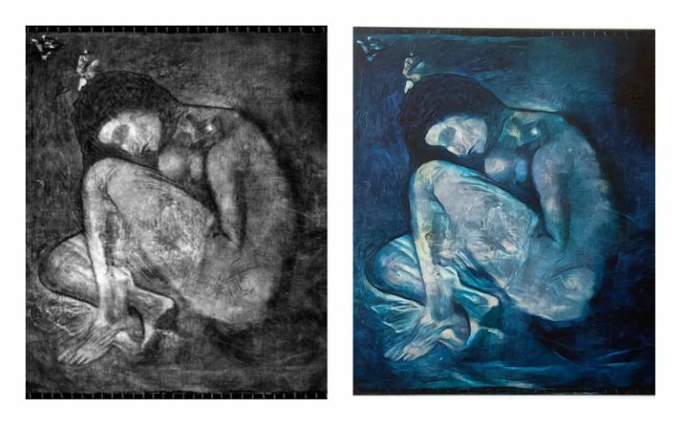 'Lost' Picasso nude re-created, with help from AI - CNET