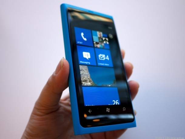 Nokia's Lumia 800, the first Windows Phone between the two companies.