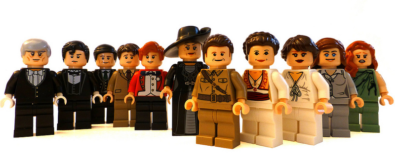 """How many characters from """"Downton Abbey"""" can you identify from their mini fig counterparts?"""