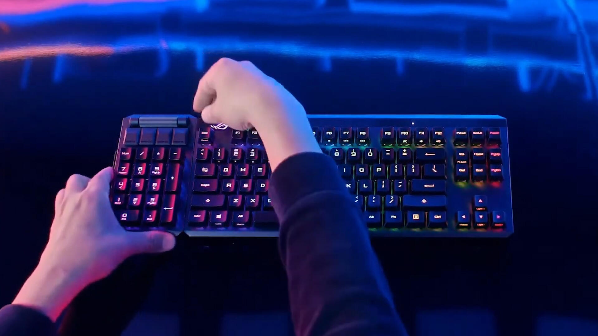 Video: ROG unveils mechanical Claymore II keyboard at CES 2021