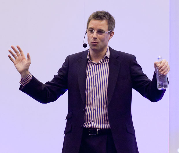 Stephen Haines, commercial director of Facebook's U.K. operation, speaking in London at the Technology for Marketing and Advertising conference.