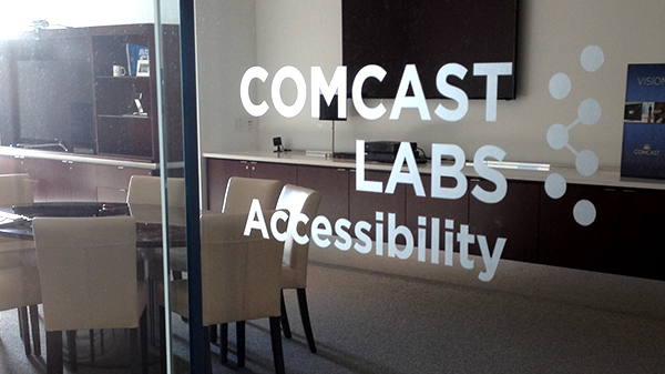 Wlodkowski and his team work in an accessibility lab in Comcast's headquarters.