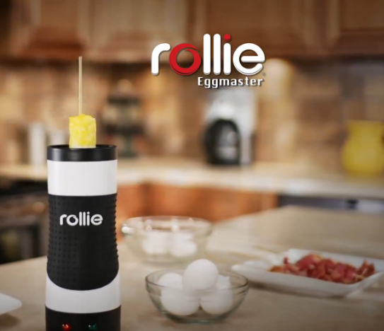 The Rollie Eggmaster Cooking System: making eggs on a stick easy to make.