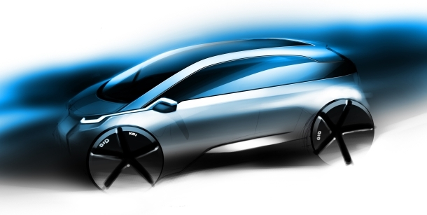 This sketch is the clearest look we've had at BMW's Megacity electric vehicle.