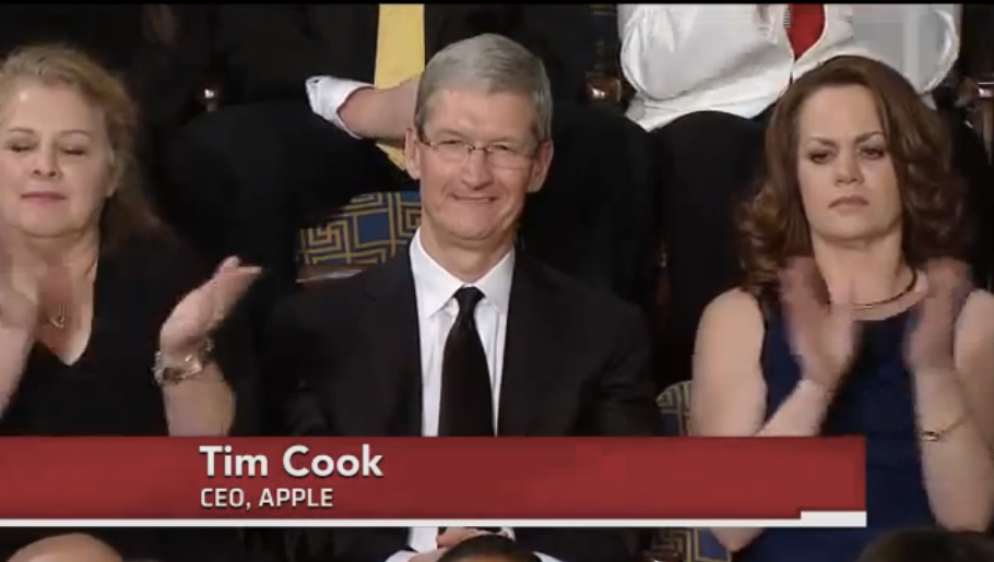 Apple CEO Tim Cook at 2013 State of the Union