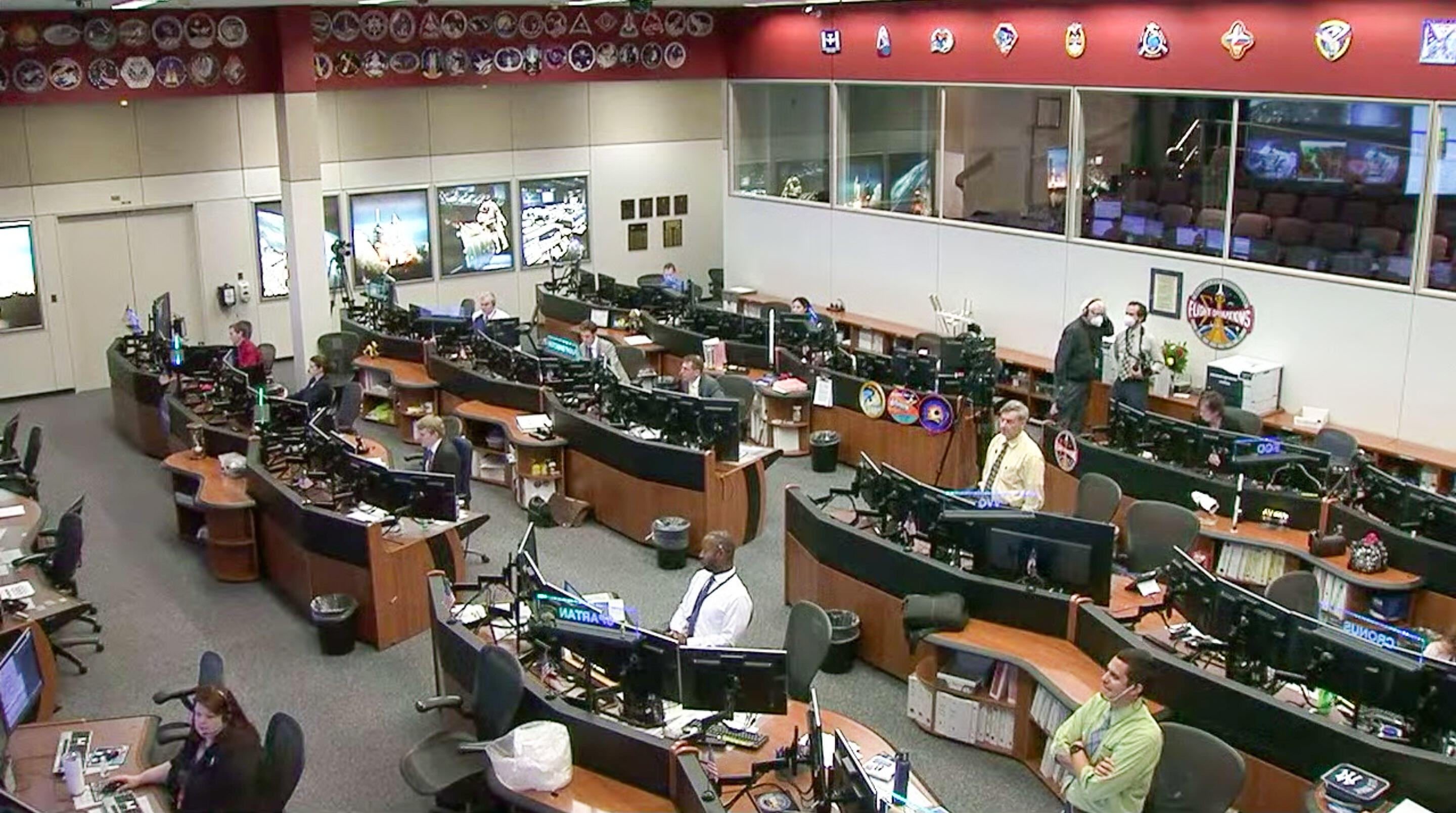 NASA's Mission Control for SpaceX launch
