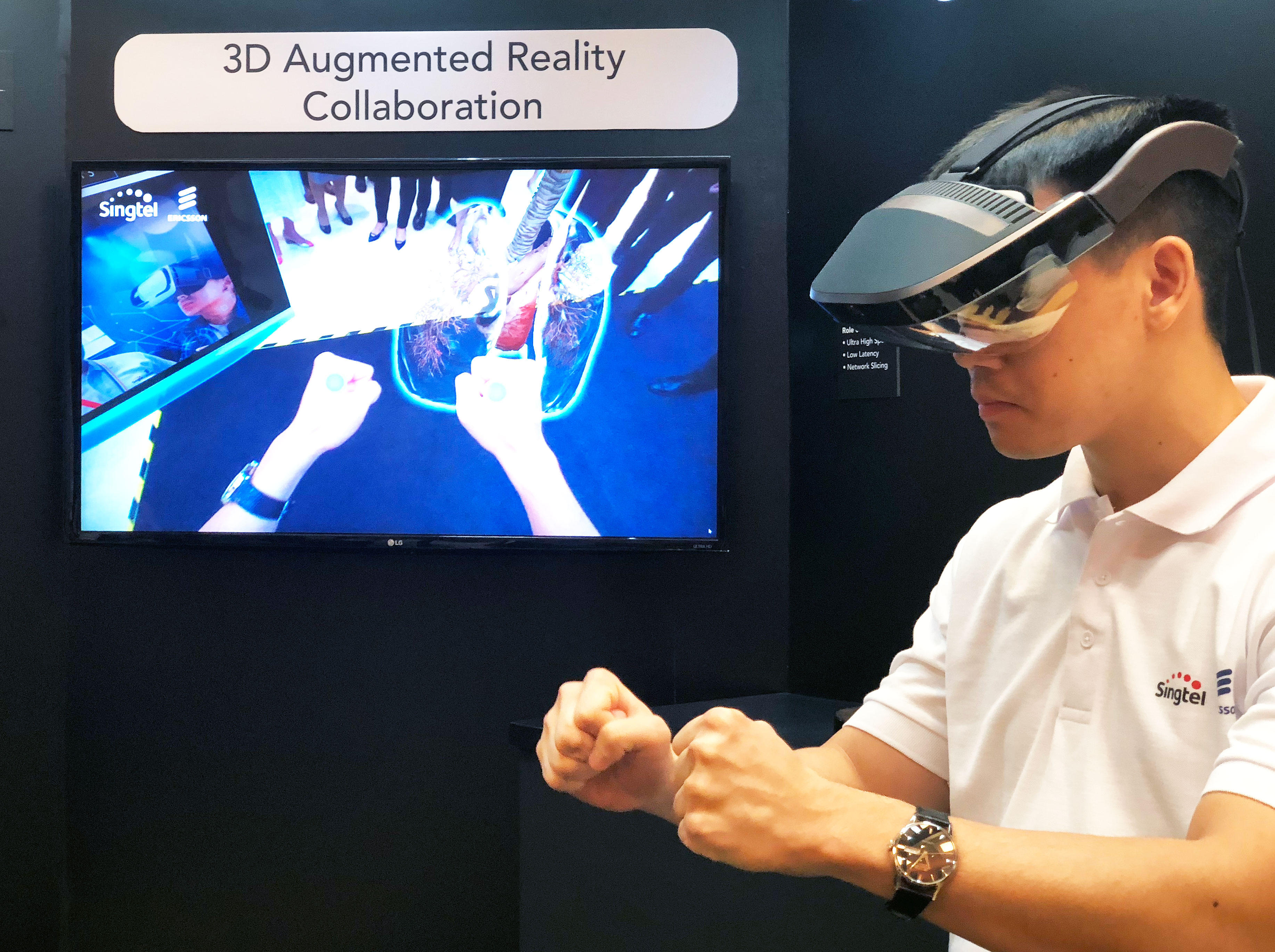<p>5G networks will let users collaborate in AR in real time thanks to its low latency.</p>