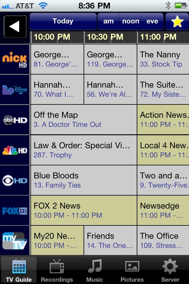 You can check the TV guide and schedule recordings right from your iPhone.