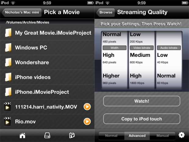How to stream video to an iPad or iPhone using VLC Streamer: 4
