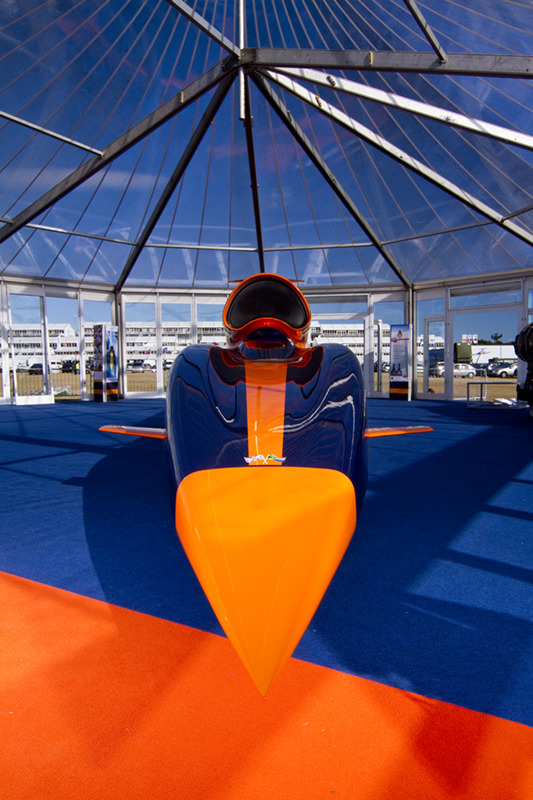 Front view of the Bloodhound SSC