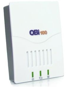 The Obihai OBi100 phone adapter works with Google Voice to give you free calling for life.