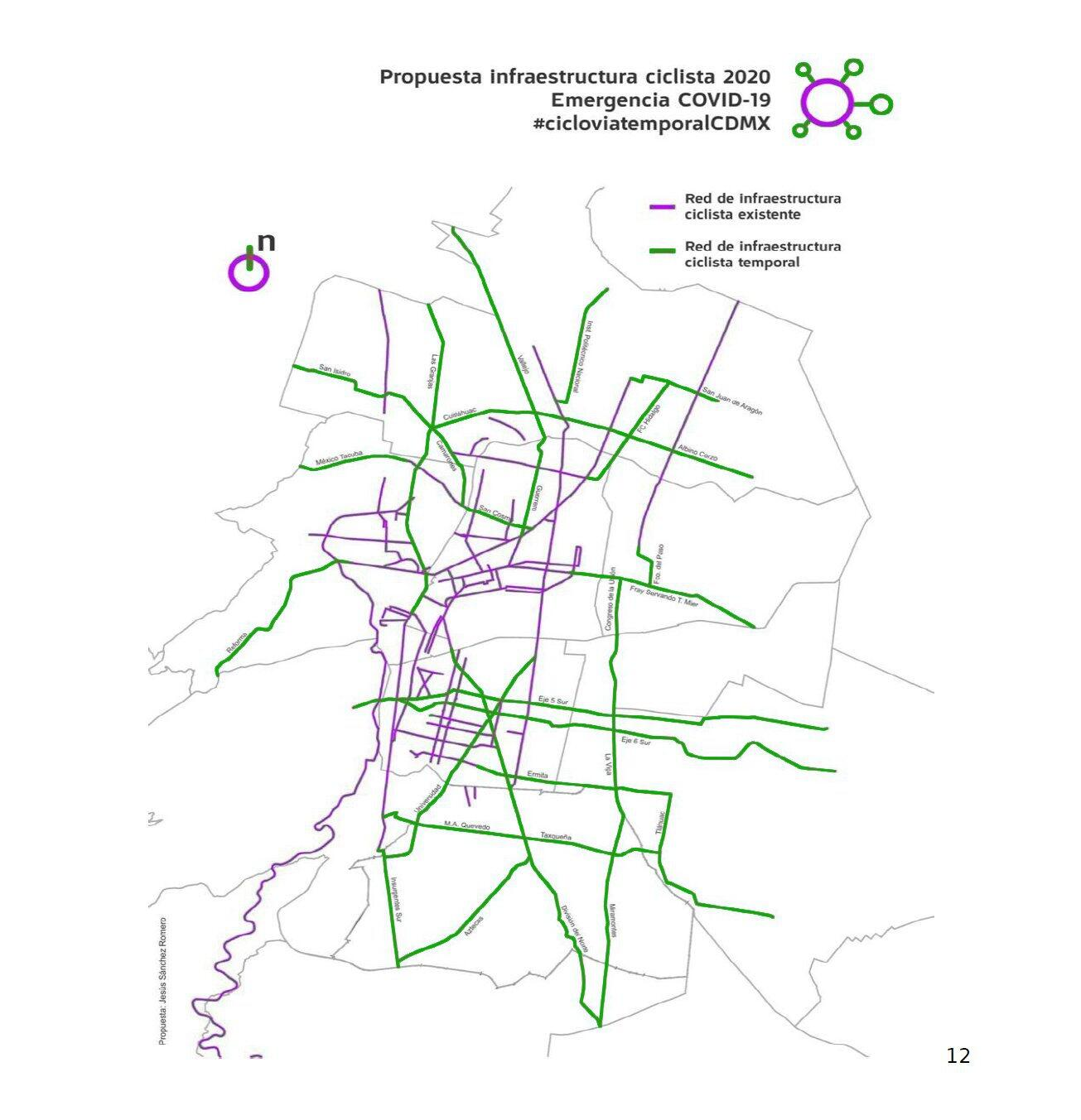 Proposed Mexico City bike paths to battle COVID-19