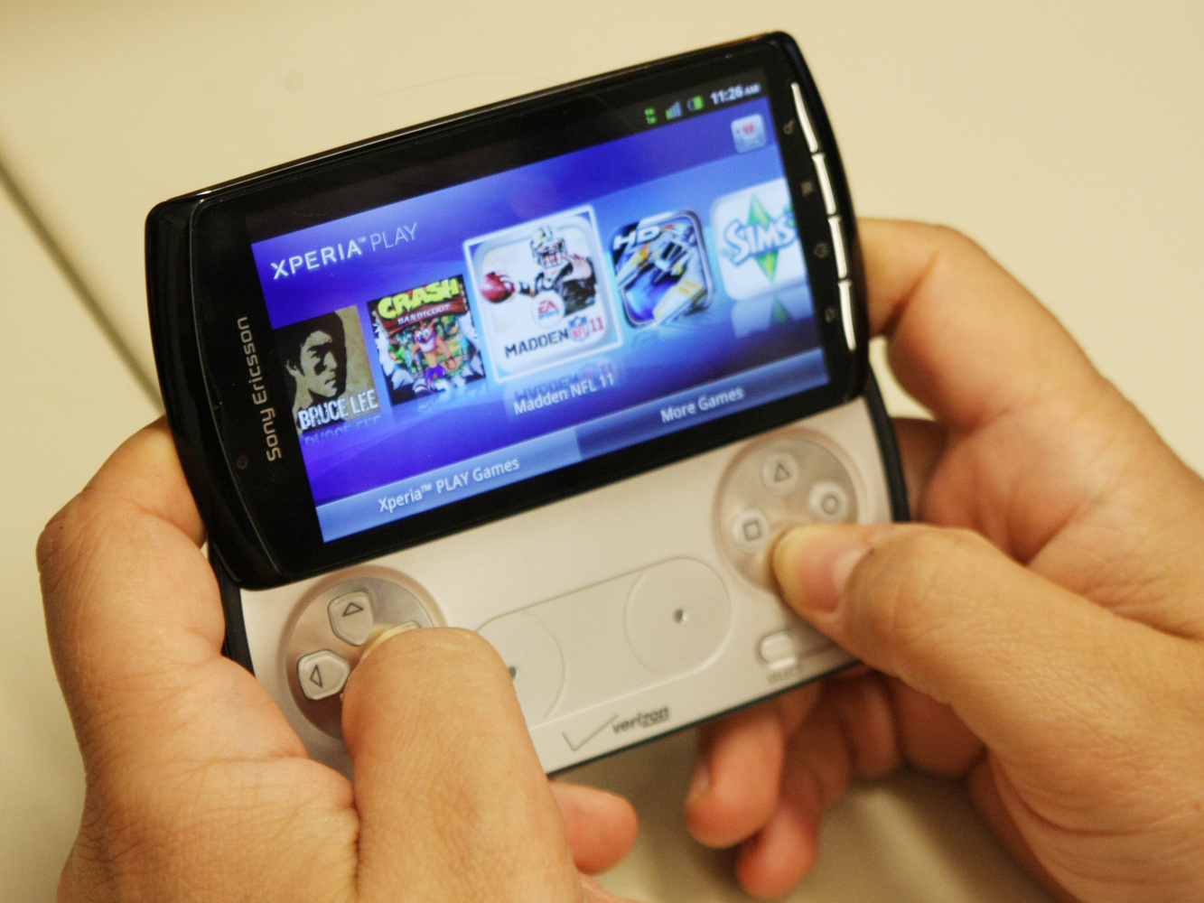 The Xperia Play can't hope to compete with the Vita. Why should it?
