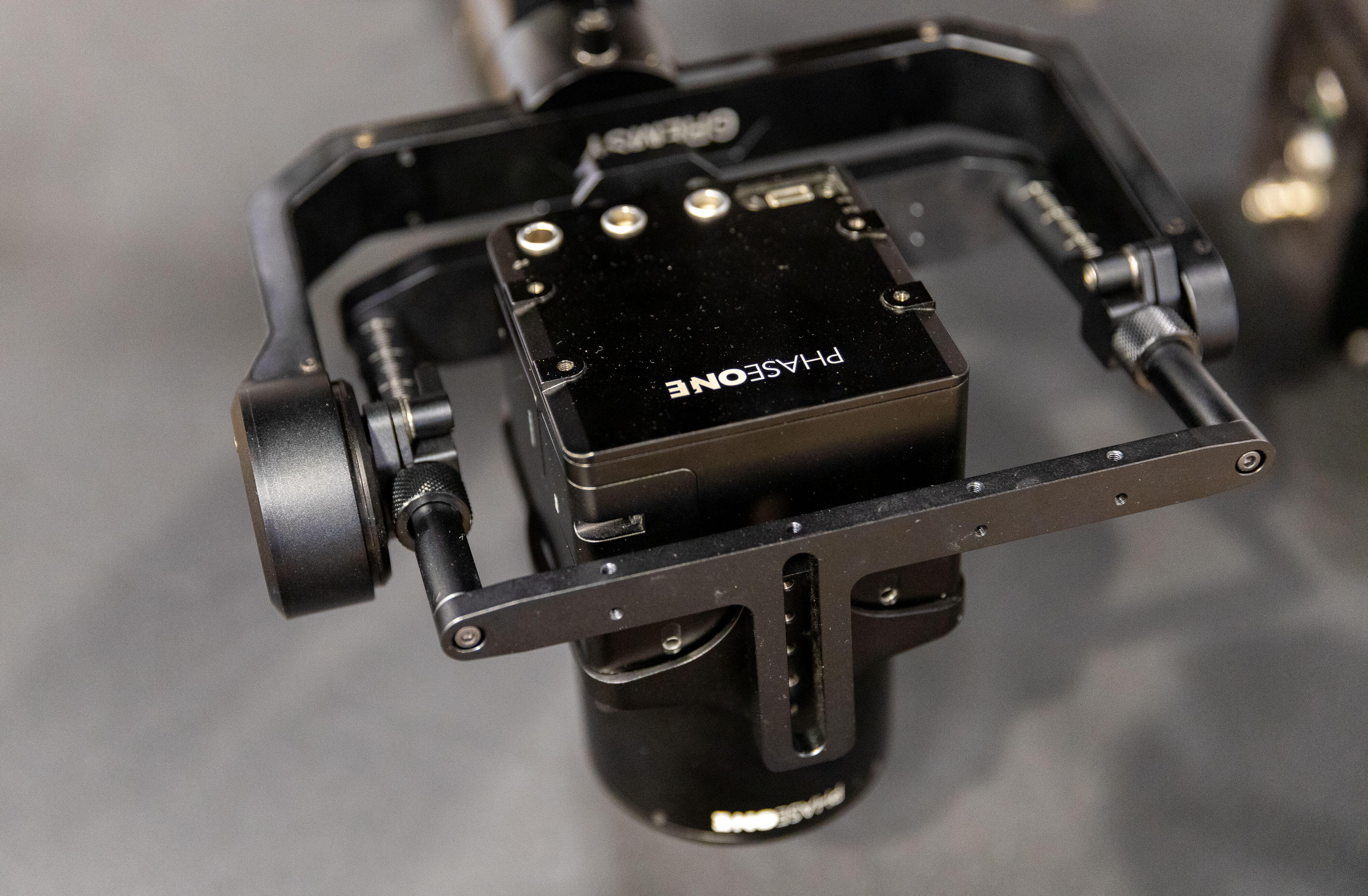 Drone-mounted Phase One industrial camera