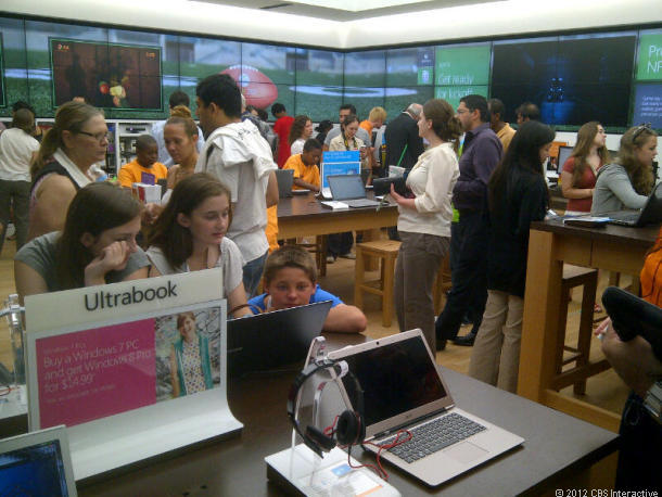 A Microsoft store in Boston.