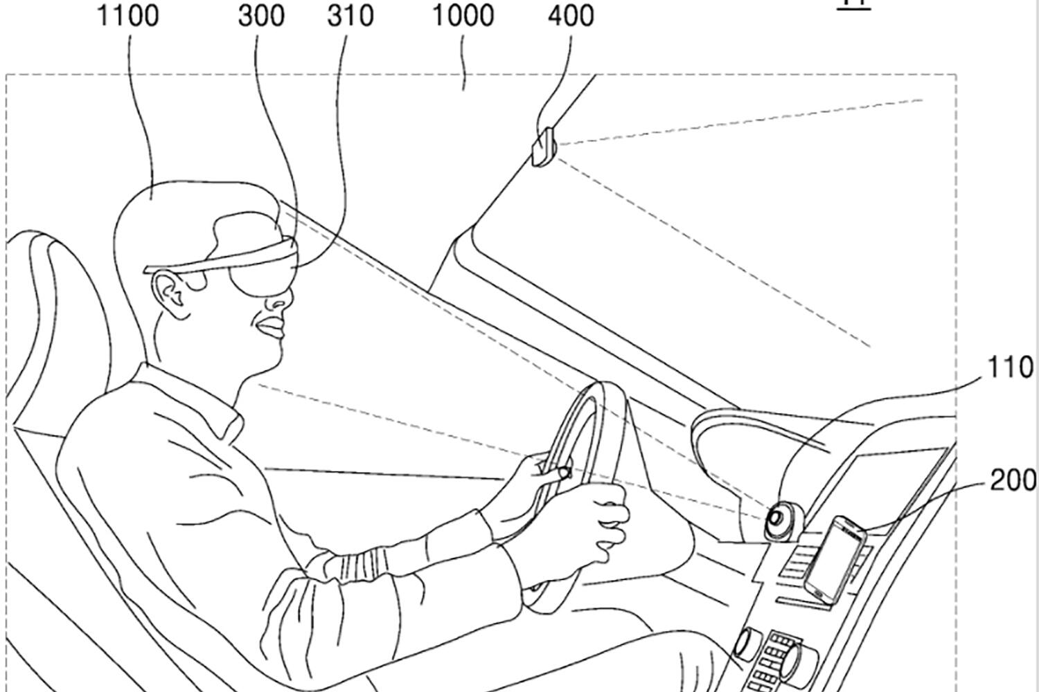 Samsung AR glasses with navigation patent