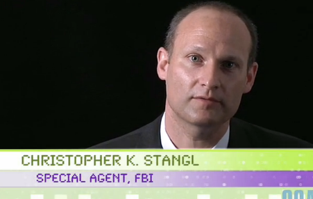 In a video posted to Facebook in 2009, FBI agent Christopher K. Stangl talks about how the FBI is looking for a few good cyber security experts.