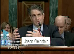 Jason Weinstein, deputy assistant attorney general for the criminal division