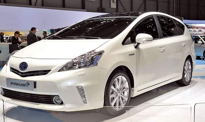 The Prius Plus, which was shown last week at the Geneva auto show, is the three-row version of the Prius V minivan.