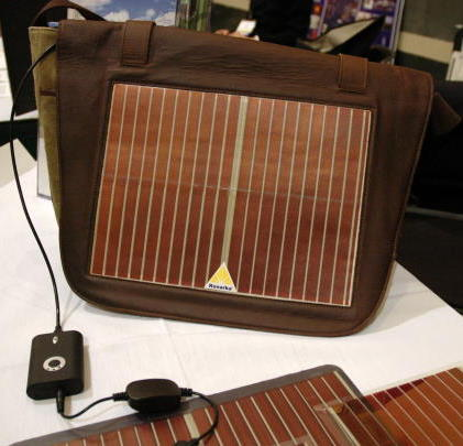 Konarka's flexible solar cells are well suited for charging portable electronics or building-integrated photovoltaics