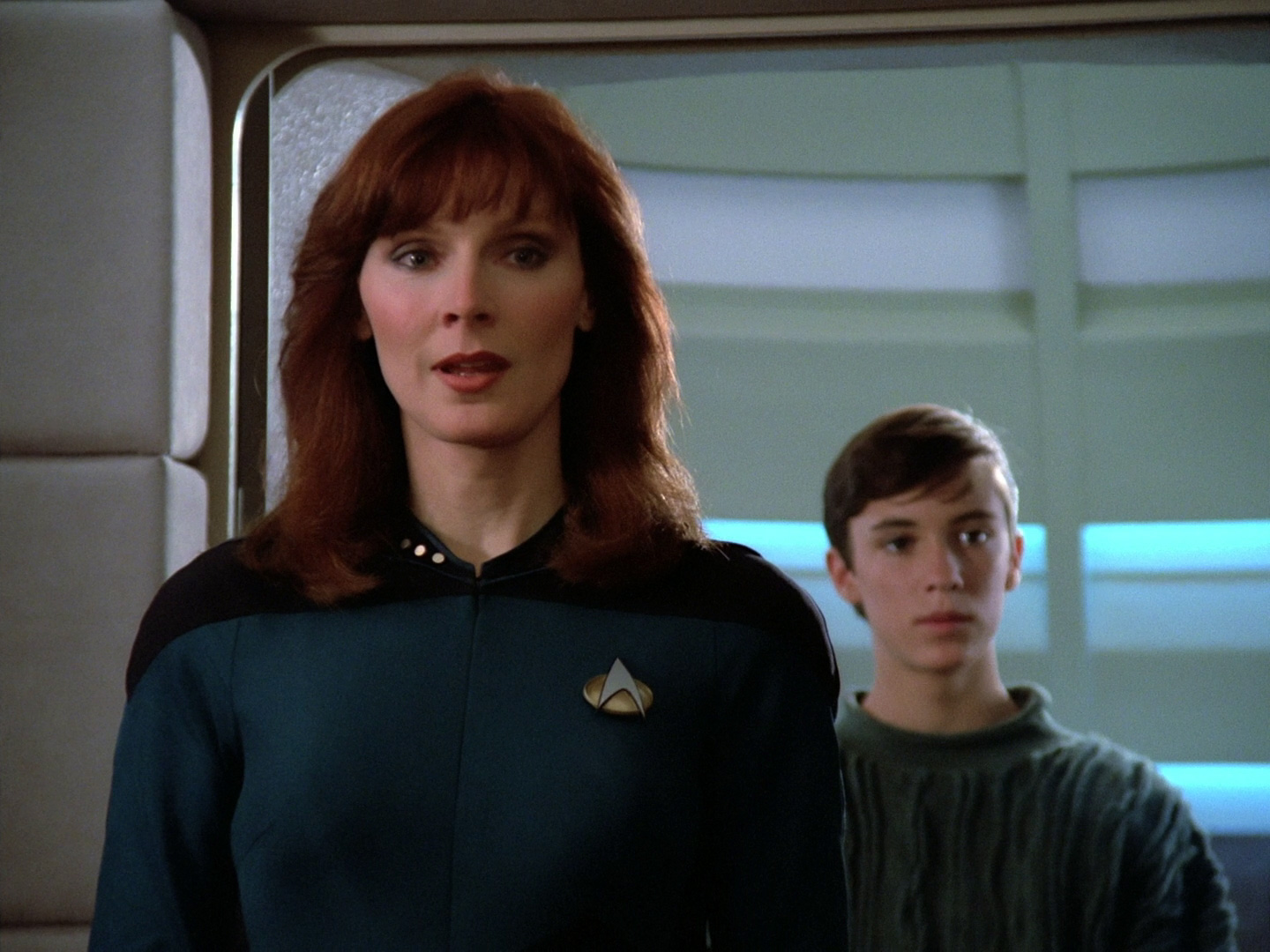 "Gates McFadden played a widow and single mother on ""Star Trek: The Next Generation."""
