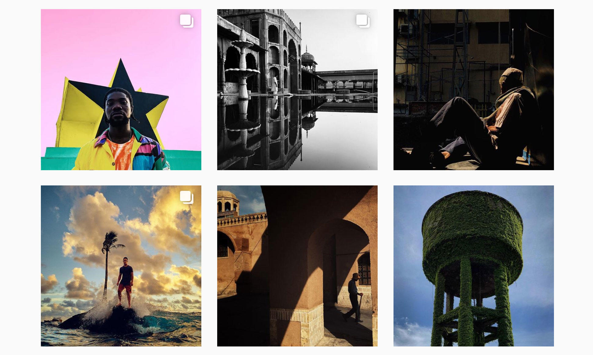 Apple for years has publicized the creative possibilities of its smartphones with the #ShotOniPhone hashtag, here used on the company's Instagram page.