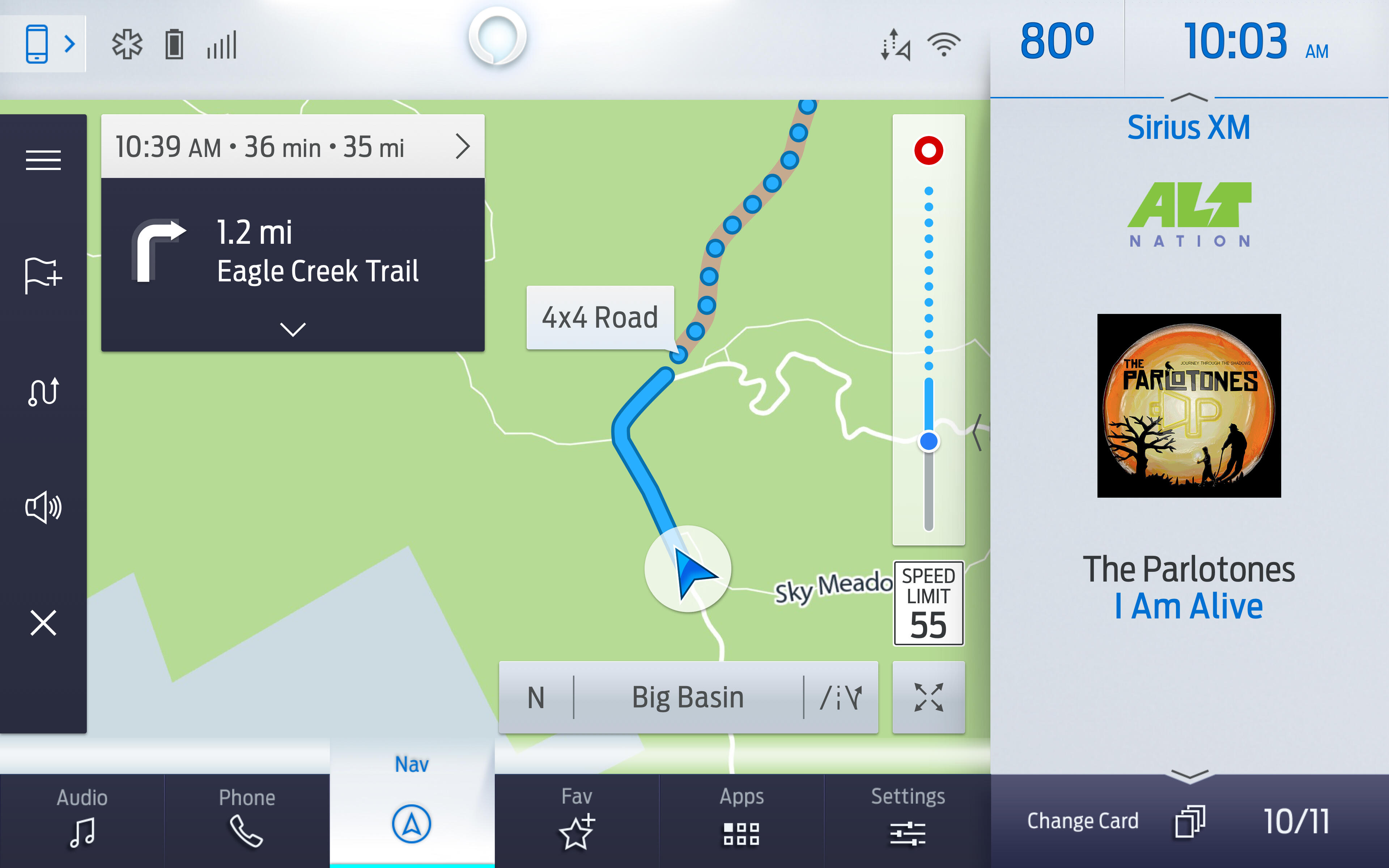Ford Sync 4 off-road map