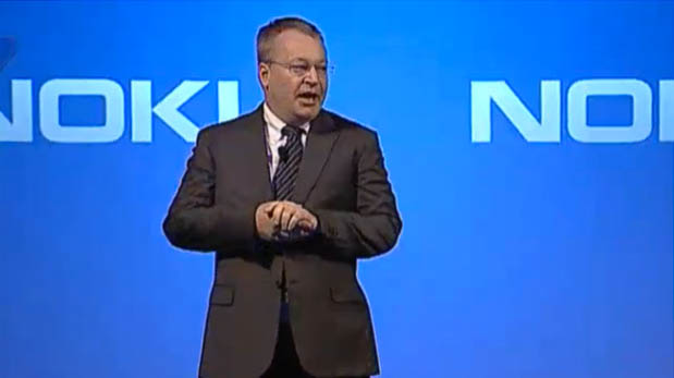 Stephen Elop, the outgoing CEO of Nokia and leader-to-be of Microsoft's phone business, speaks at a press conference in Finland.