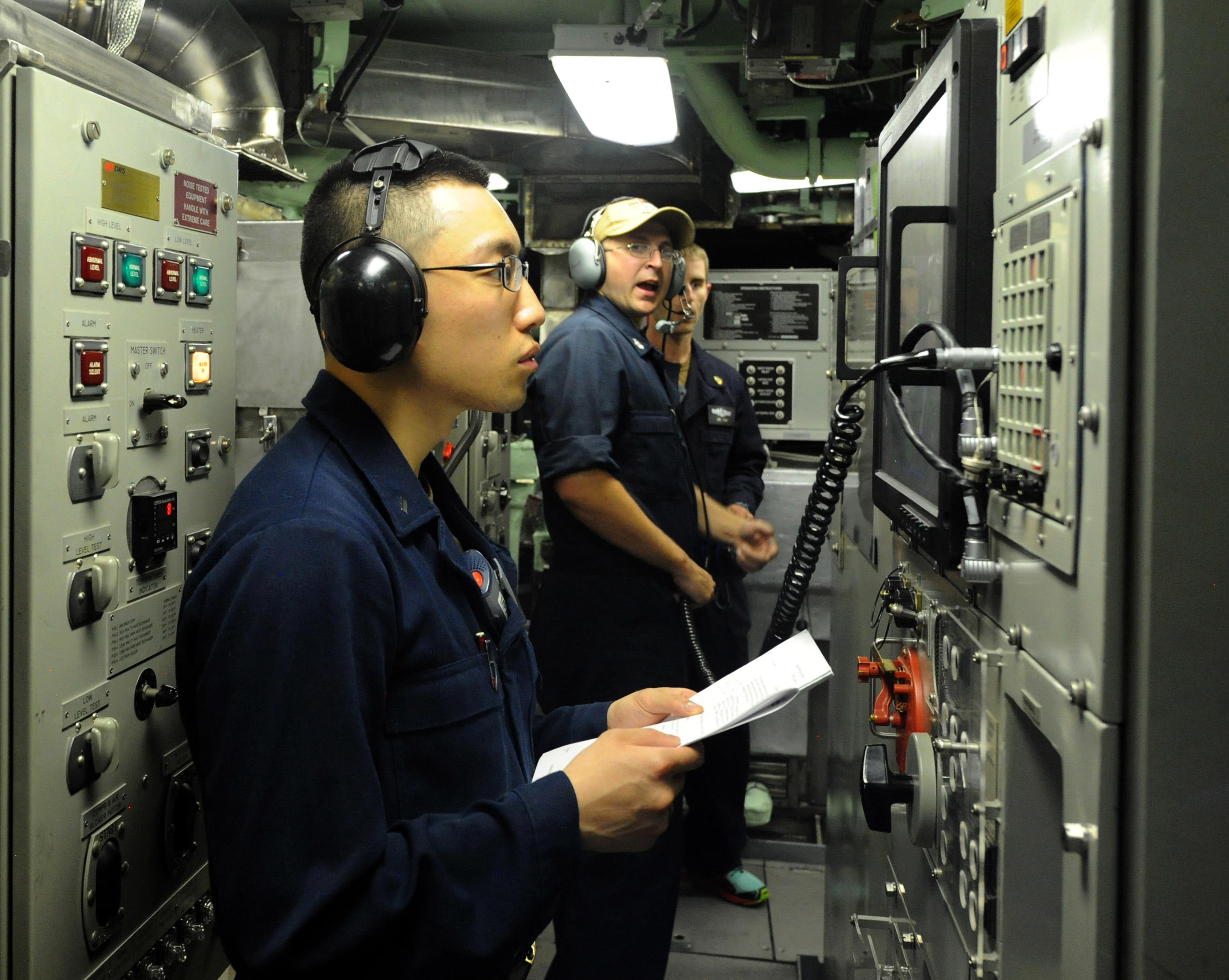 USS Indiana operations check