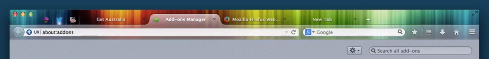 Want a new look? Australis is better for showing off themes, Mozilla believes.