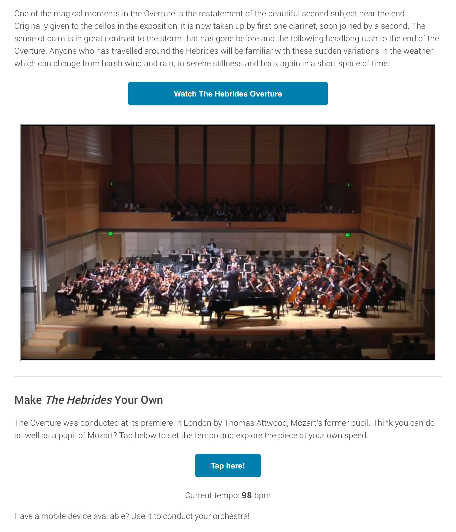 This e-book from VitalSource lets readers experiment to change the tempo of a musical performance.