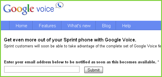 Google Voice and Sprint