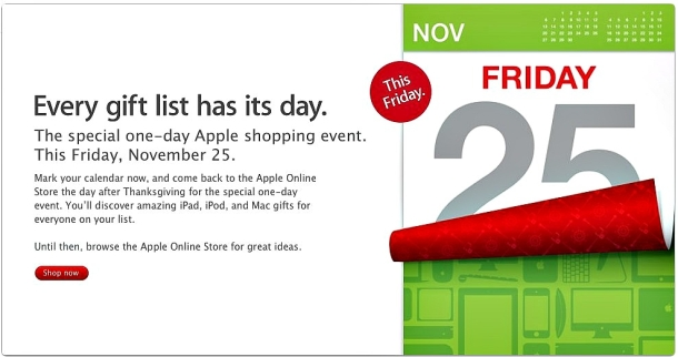 What kind of deals will Apple offer on Black Friday?
