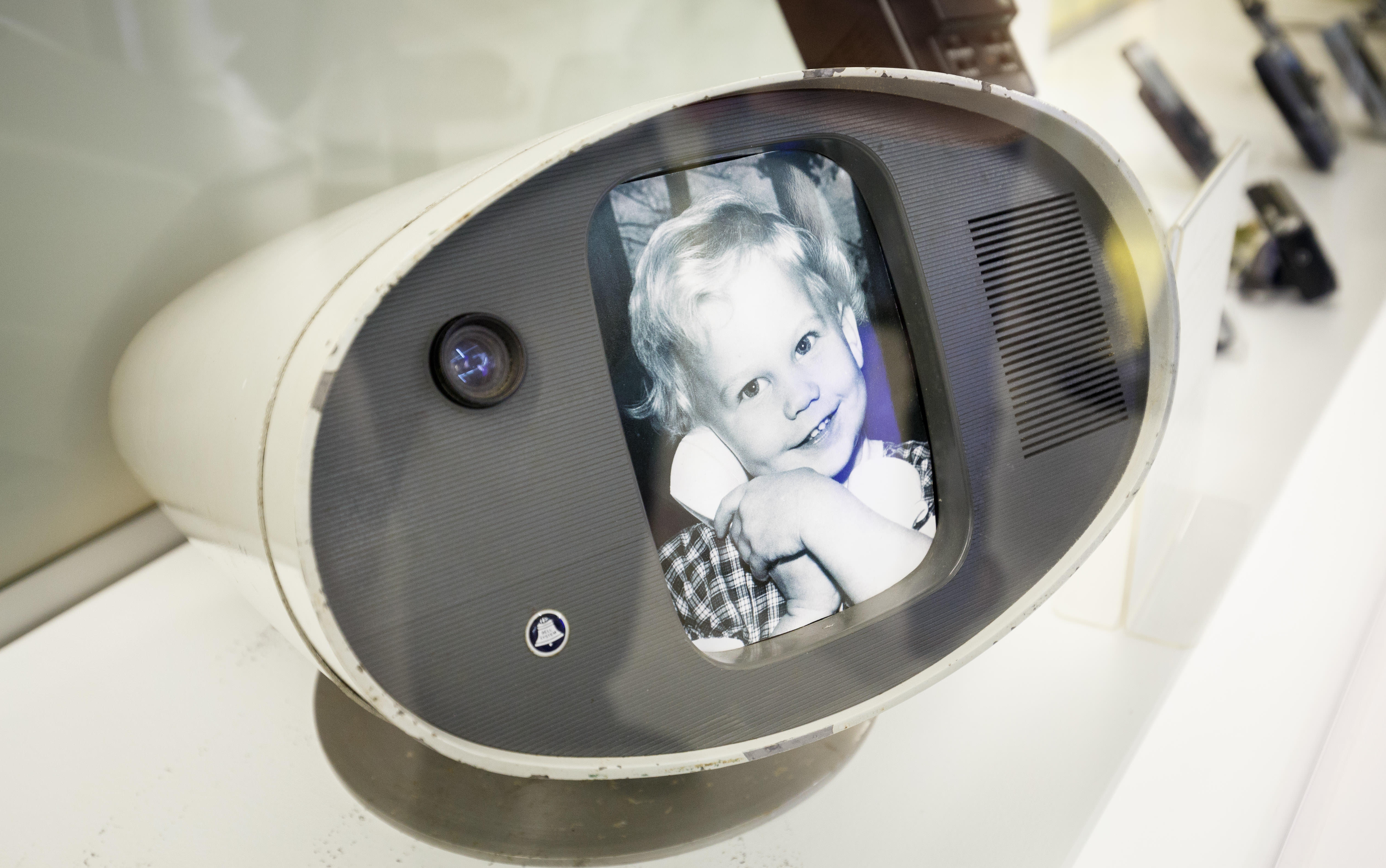 AT&T showed this Model I PicturePhone prototype at the 1964 World's Fair in New York. It's now on display at Nokia's Bell Labs, which inherited the famous AT&T R&D center through acquisitions.