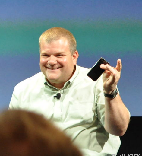 Apple's Bob Mansfield at a 2010 press conference.