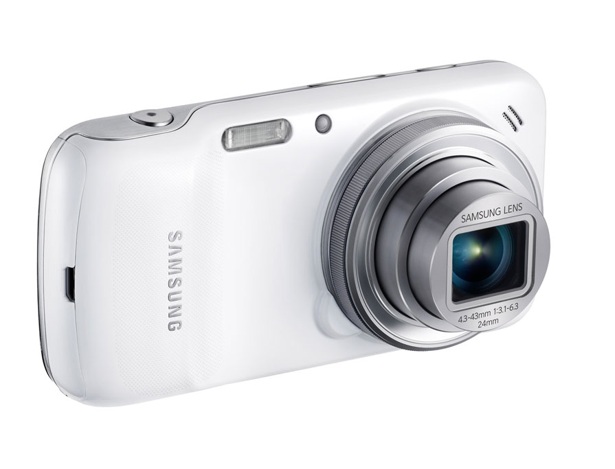 The Samsung Galaxy S4 Zoom marries an Android 4.2-based smartphone with a 16-megapixel camera that uses a 10x zoom lens.