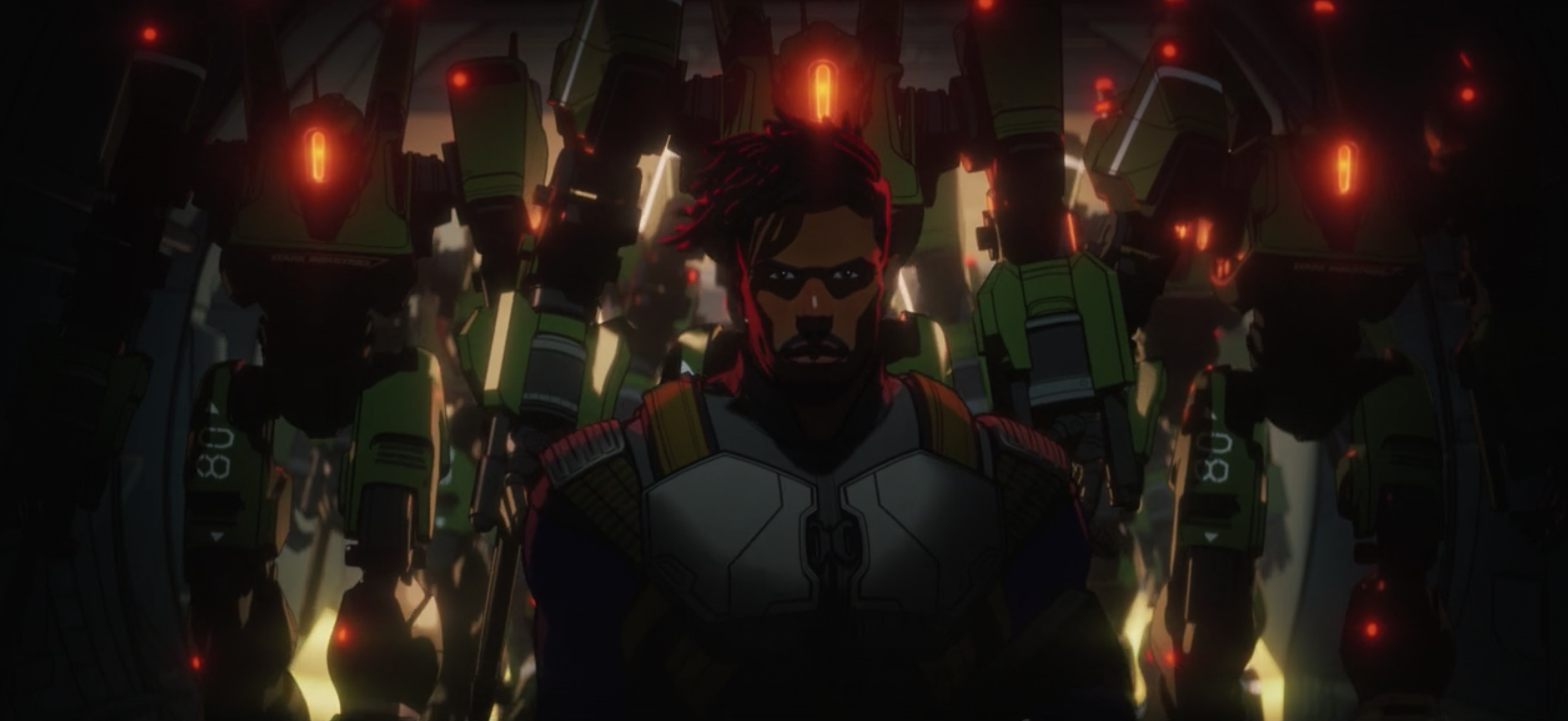 Killmonger and Liberator drones in Marvel's What If...?