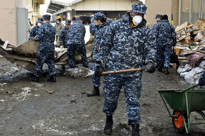 Sailors assigned to Fleet and Industrial Supply Center from Naval Air Facility Misawa