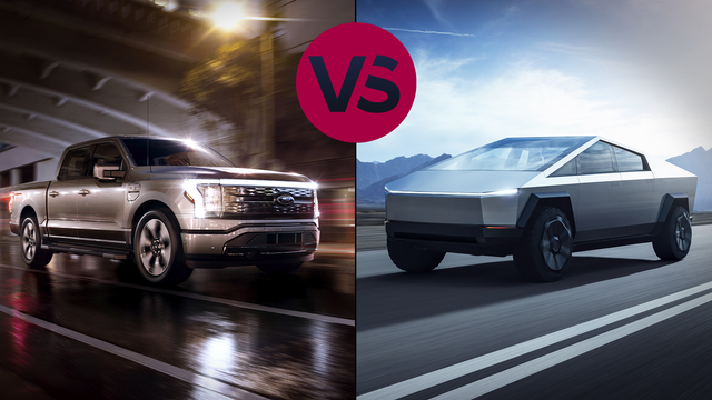 Video: See the essential differences between the electric F-150 Lightning and Tesla Cybertruck