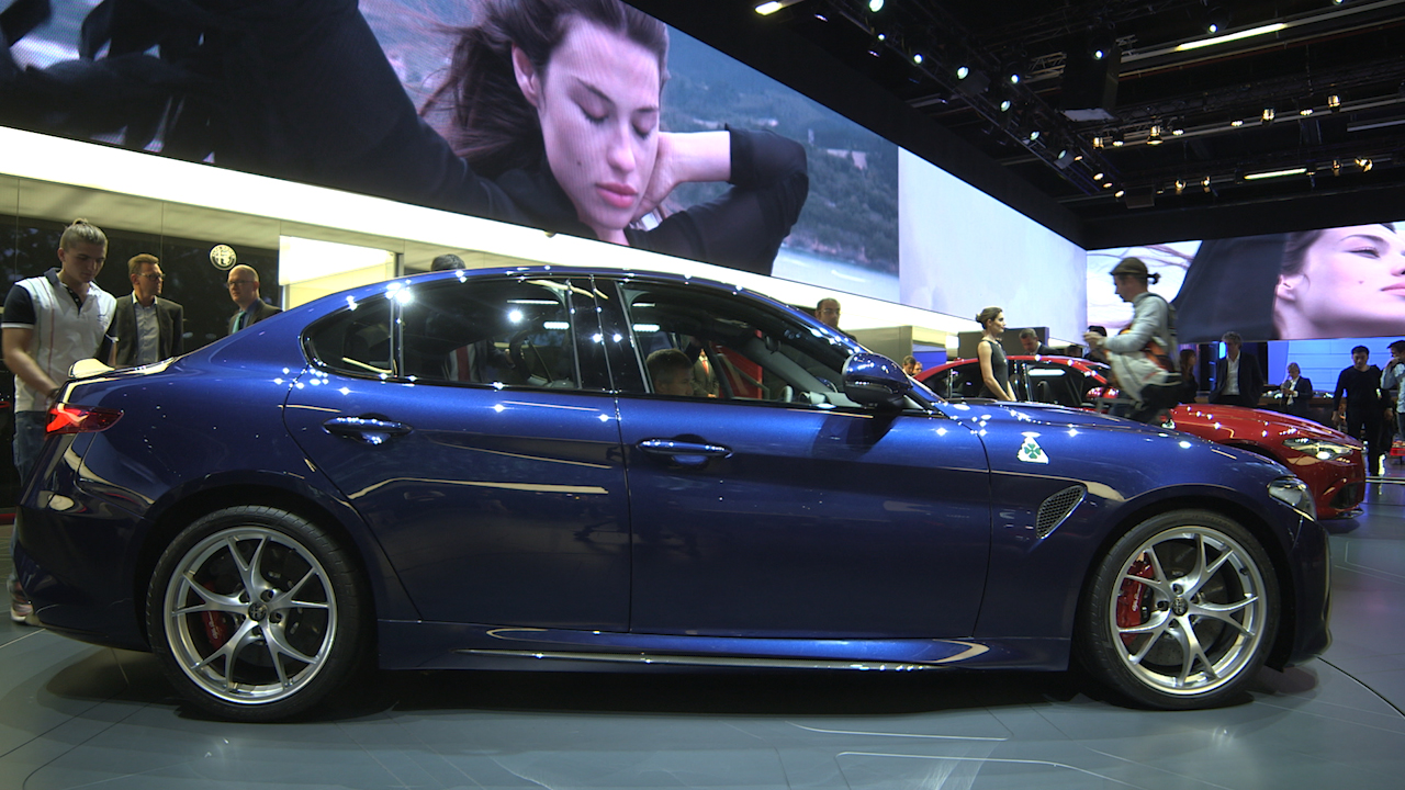 Video: Alfa Giulia takes on BMW's iconic M3 in Frankfurt