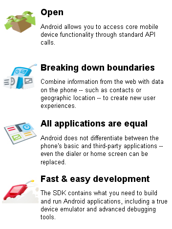 Google's promised advantages of Android.