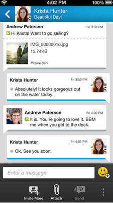 BBM for iOS is expanding to the Wi-Fi iPad and iPod Touch.